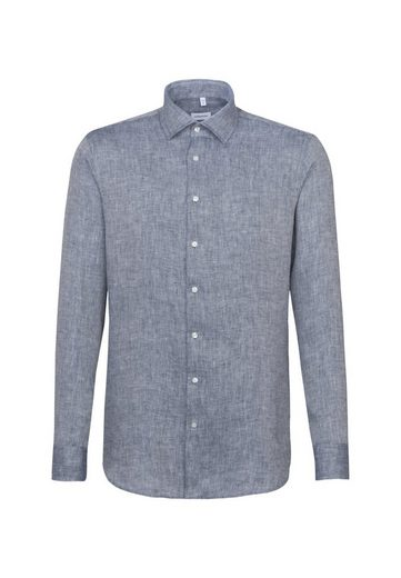 seidensticker Businesshemd »Shaped« Shaped Langarm Kentkragen Uni