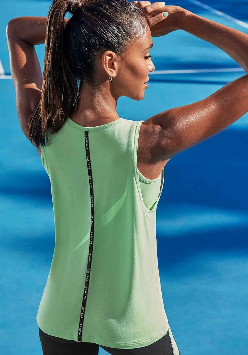 LASCANA ACTIVE Shirttop aus weichem Viskose Materialmix