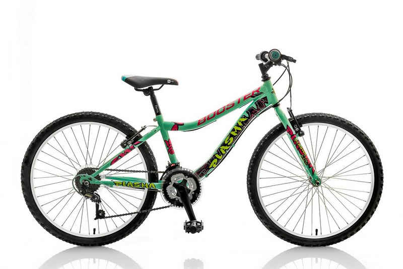 breluxx Mountainbike »24 Zoll Kinderfahrrad Mountainbike BOOSTER Plasma türkis«, 18 Gang, Kettenschaltung