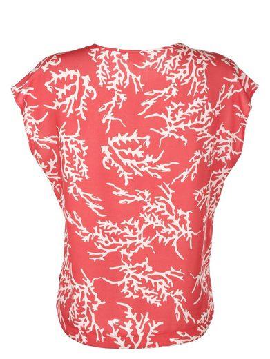 Alba Moda Blusenshirt mit Korallenprint