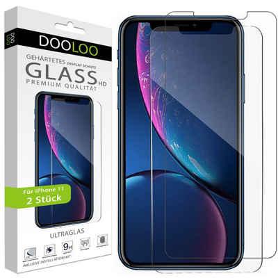 Dooloo Schutzfolie »2x Ultraglas HD Panzerglas für iPhone 11«, Schutzglas 9H Panzerfolie