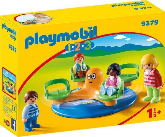 Playmobil® Konstruktions-Spielset »Kinderkarussell (9379), Playmobil 1-2-3«