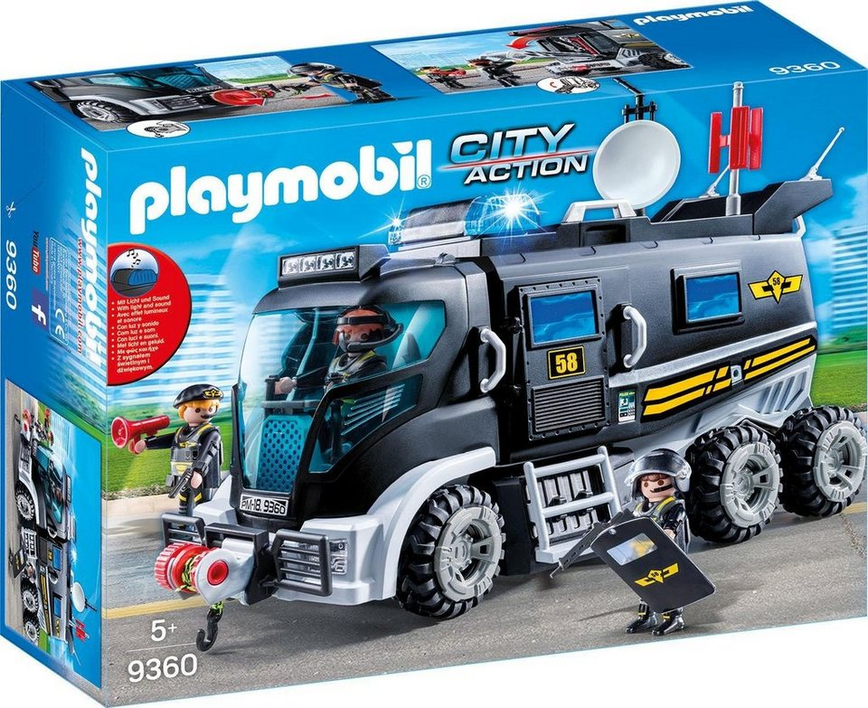 playmobil sek truck mit licht und sound 9360 city. Black Bedroom Furniture Sets. Home Design Ideas