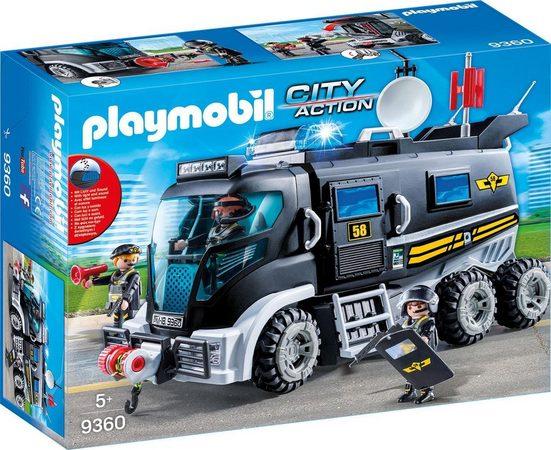 Playmobil® Konstruktions-Spielset »SEK-Truck mit Licht und Sound (9360), City Action«, Made in Germany