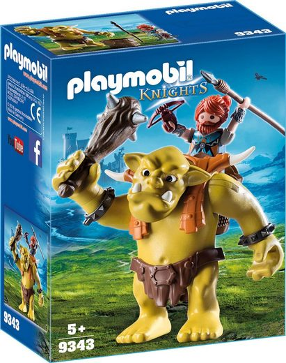Playmobil® Konstruktions-Spielset »Riesentroll mit Zwergenrucksack (9343), Knights«, Kunststoff