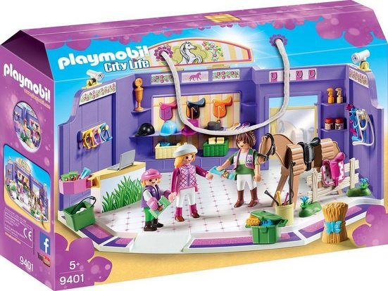 Playmobil® Konstruktions-Spielset »Reitsportgeschäft (9401), City Life«, Made in Germany