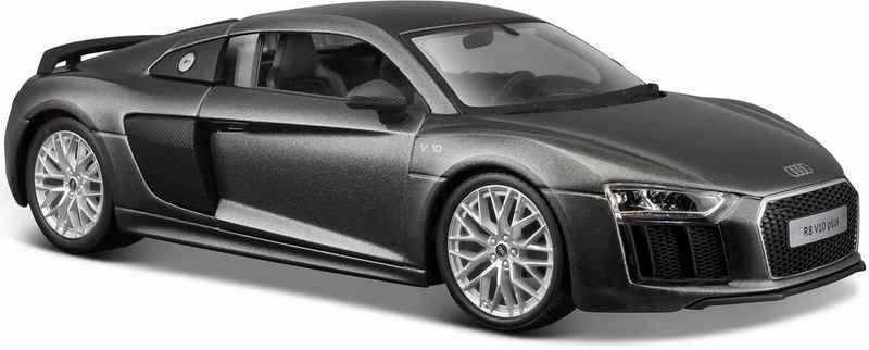 Maisto® Sammlerauto »Audi R8 V10 Plus, 1:24, grau«, Maßstab 1:24, aus Metallspritzguss