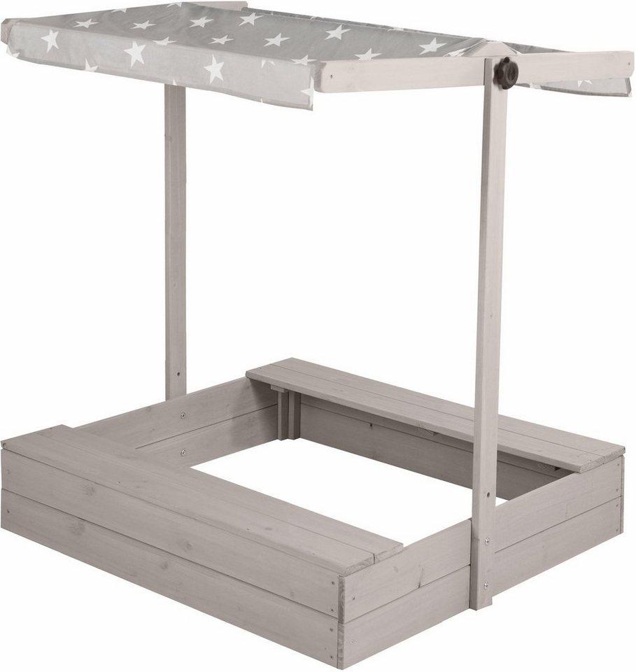 Sandkasten Mit Dach Absenkbar Kinder Metradirektde: Roba Sandkasten Mit Dach, B/T: Ca. 98/98 Cm Kaufen