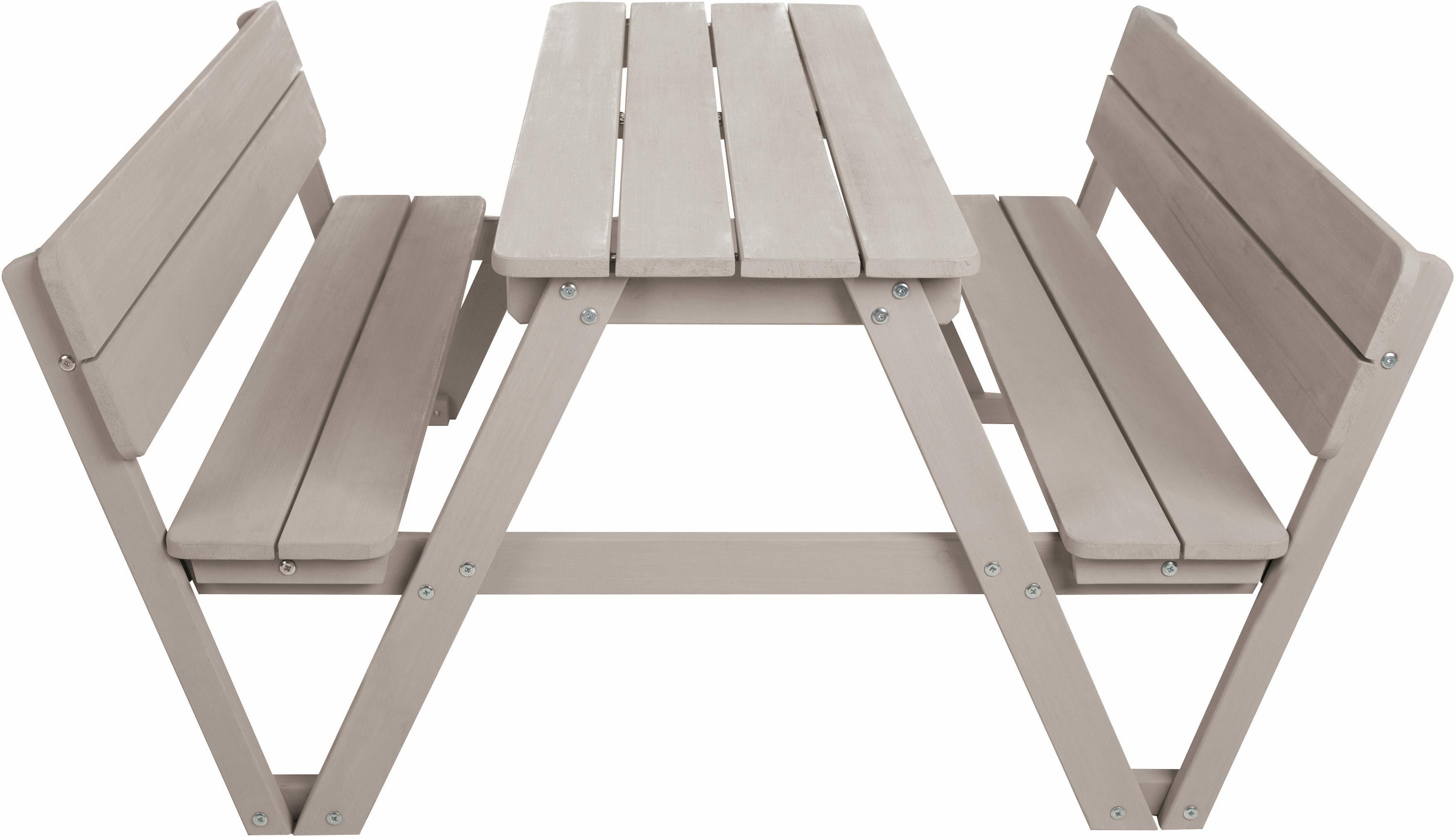 Roba Kindersitzgruppe mit Rückenlehne, »Picknick for 4, grau«