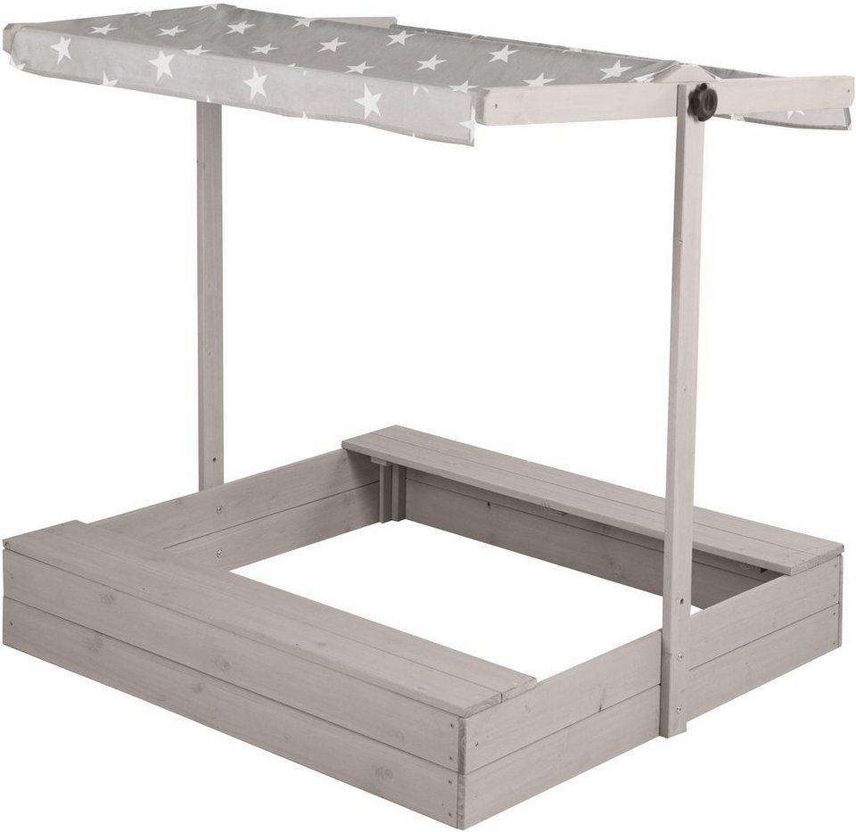 roba sandkasten mit dach b t ca 118 118 cm otto. Black Bedroom Furniture Sets. Home Design Ideas