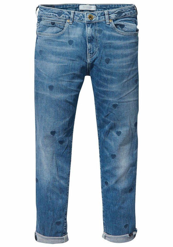 a9796bedd157 Scotch   Soda Boyfriend-Jeans »Petit Ami« mit Allover-Herzchen-Stickerei