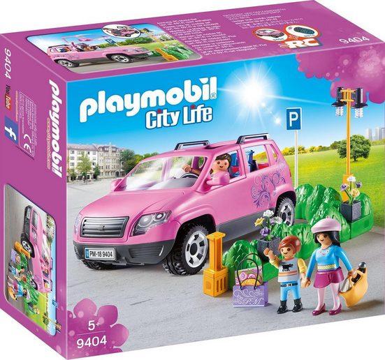 Playmobil® Konstruktions-Spielset »Familien-PKW mit Parkbucht (9404), City Life«, Made in Germany