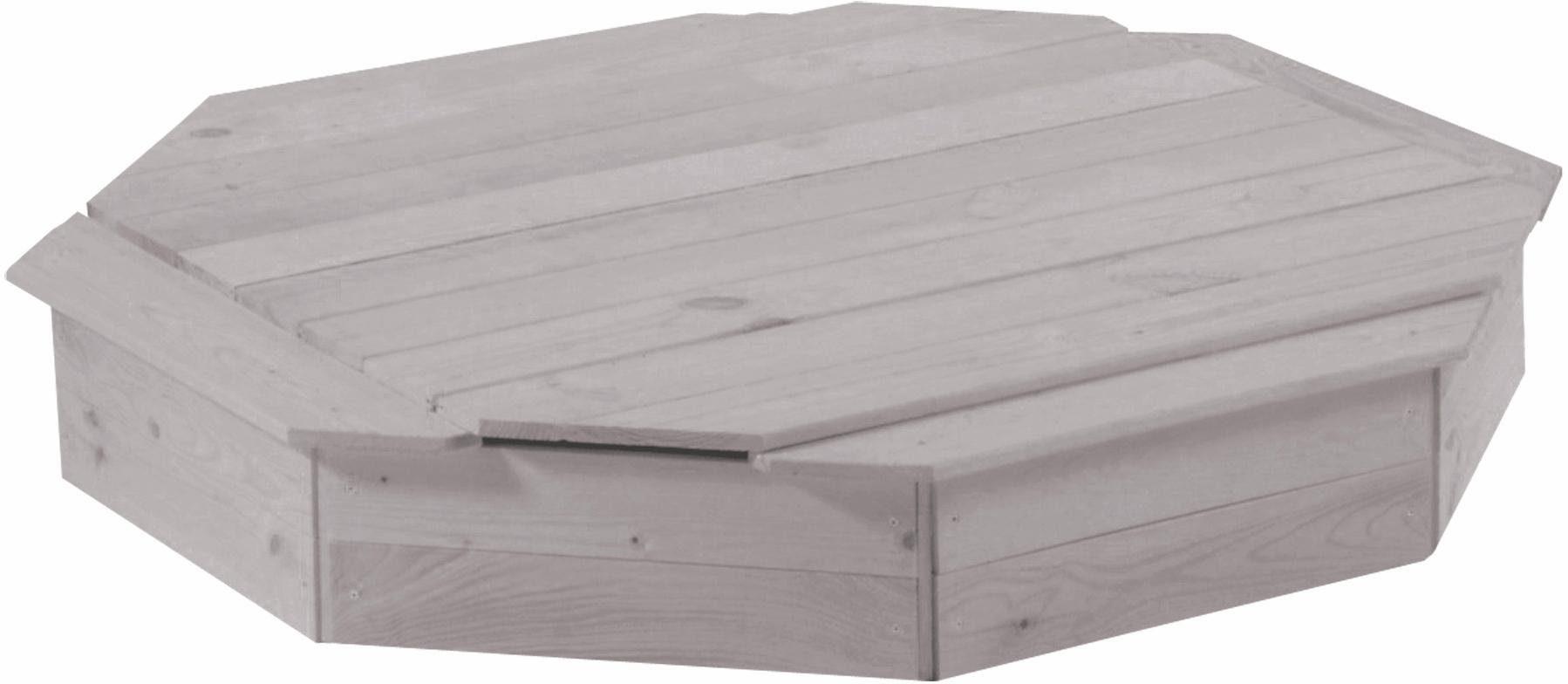 Roba Sandkasten, achteckig mit Deckel, B/T: ca. 134/134 cm