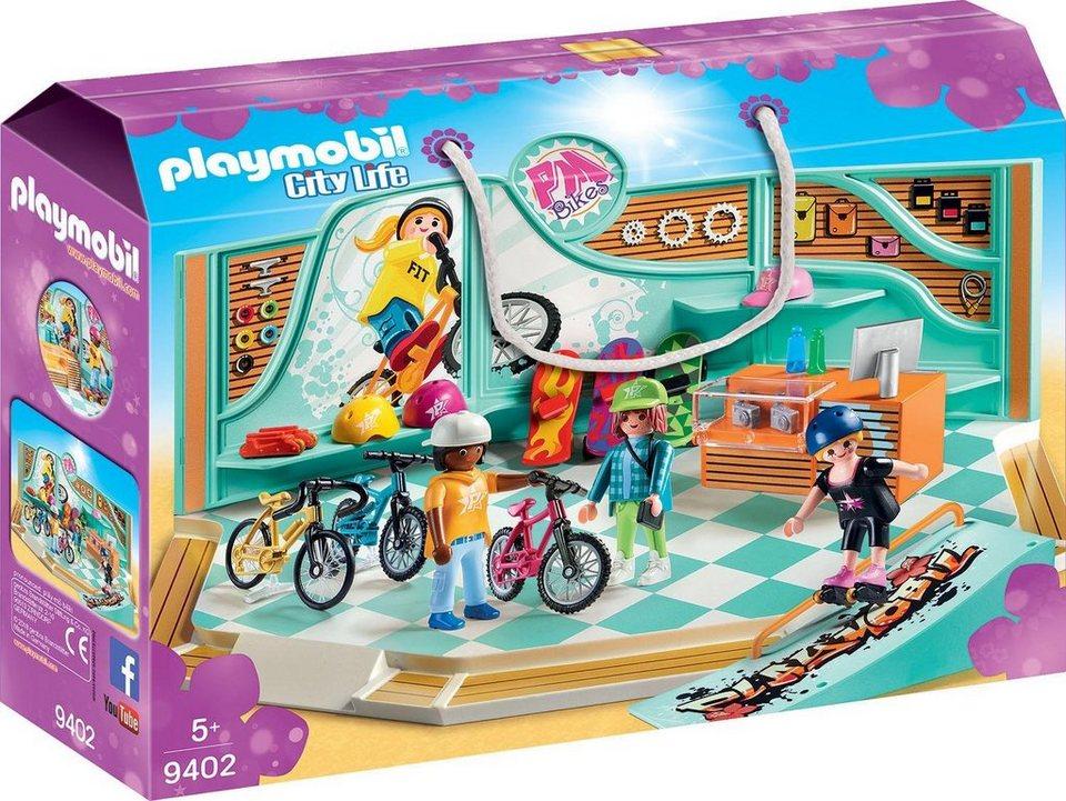 playmobil® konstruktionsspielset »bike  skate shop 9402