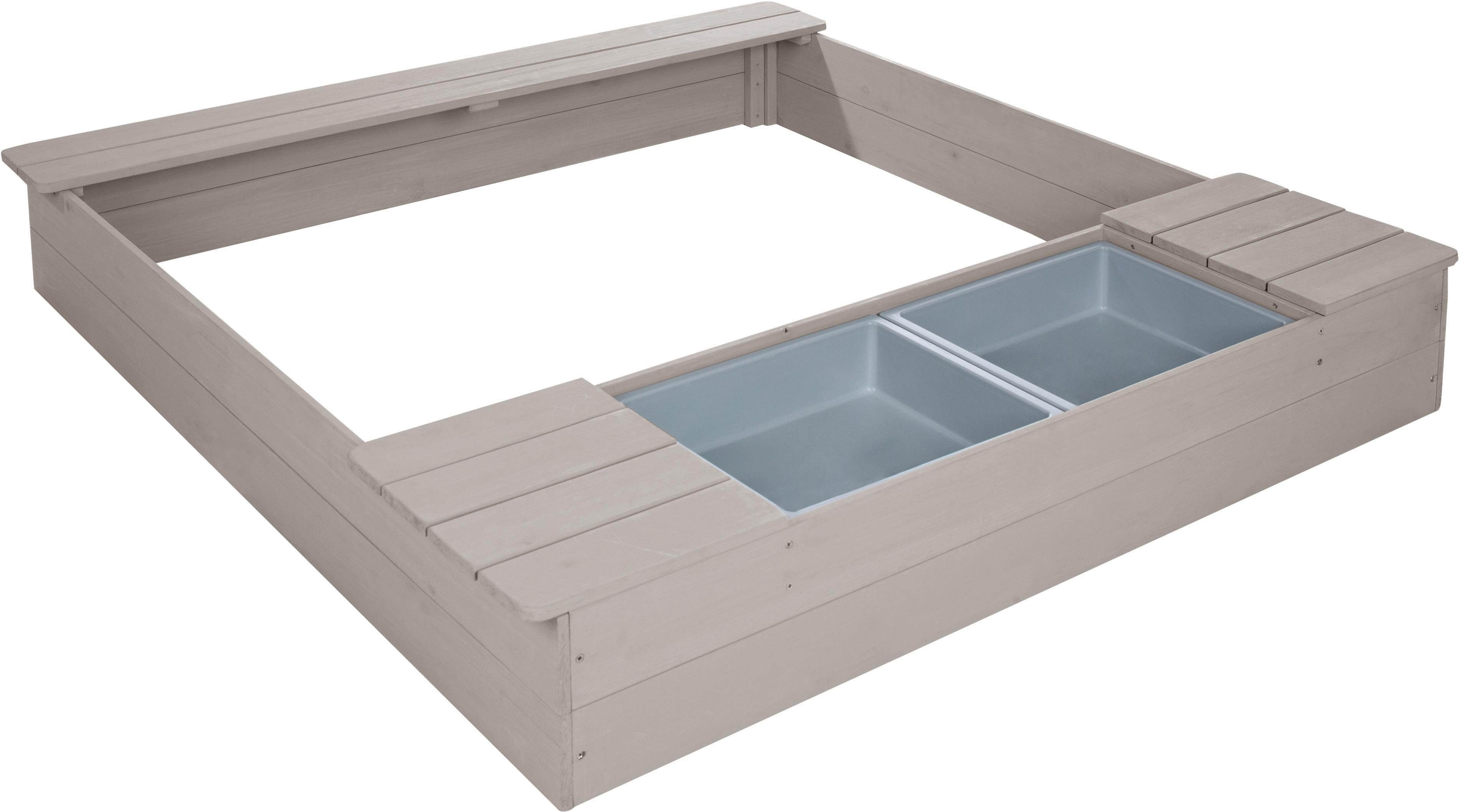 Roba Sandkasten mit Spielwannen, B/T: ca. 121/125 cm