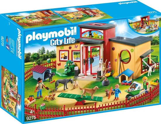 Playmobil® Konstruktions-Spielset »Tierhotel Pfötchen (9275), City Life«, Made in Germany