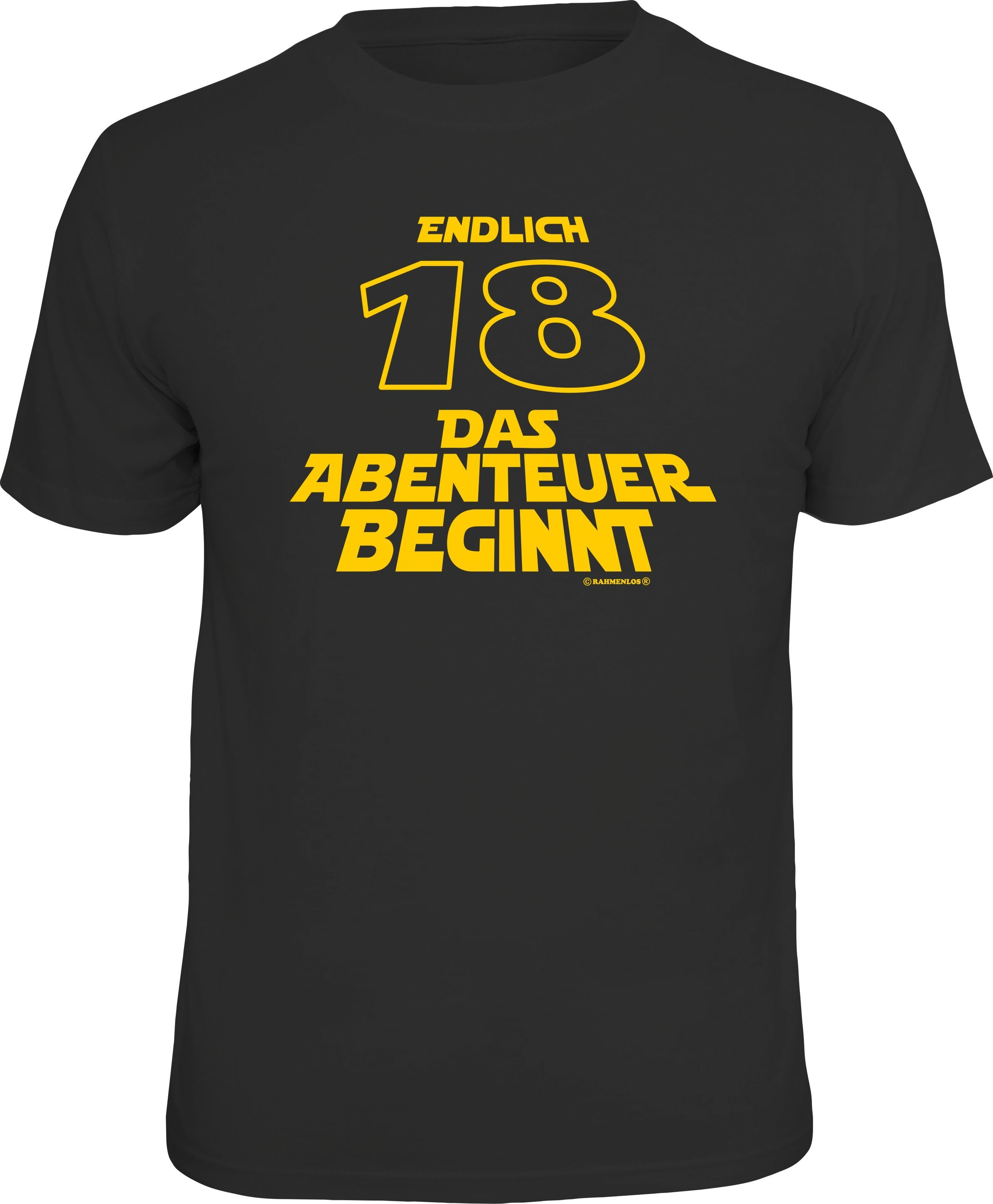 Rahmenlos T-Shirt zum 18. Geburtstag