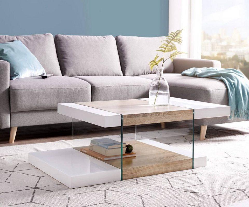 delife wohnzimmertisch henora weiss hochglanz 110x58 cm. Black Bedroom Furniture Sets. Home Design Ideas