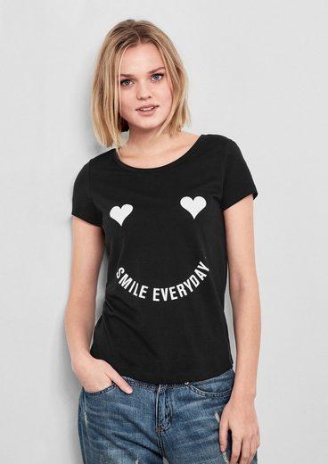 Q/S designed by T-Shirt mit verspieltem Print