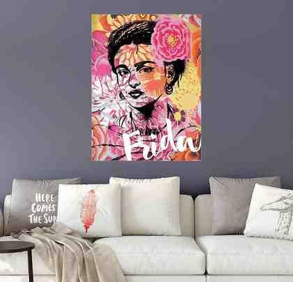Posterlounge Wandbild - Nory Glory Prints »Frida Kahlo Pop Art«