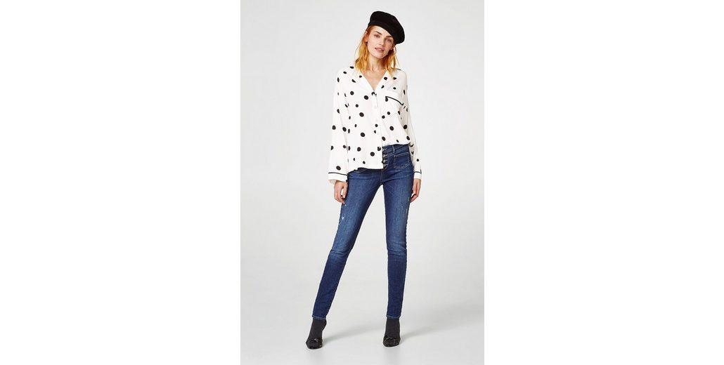 EDC BY ESPRIT Stretch-Jeans mit Knopfleiste Spielraum Bester Verkauf 4kLQ1p