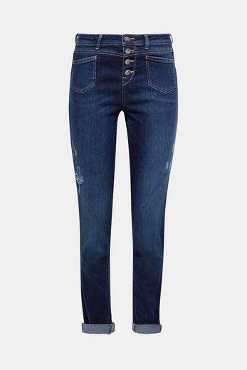 EDC BY ESPRIT Stretch-Jeans mit Knopfleiste
