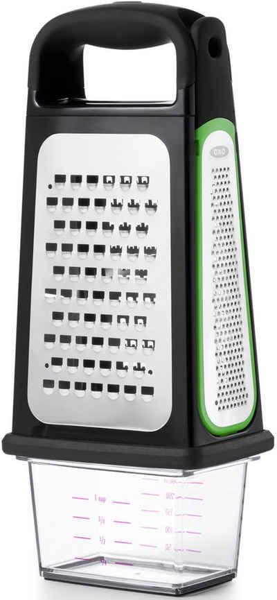 OXO Good Grips Multireibe »Good Grips«, Edelstahl, Kunststoff, Geätzte-Vierkantreibe mit Auffangbehälter und abnehmbarem Zestenreißer