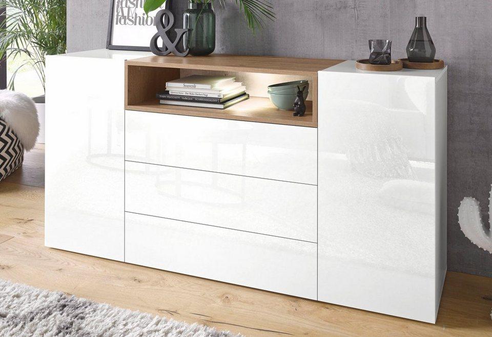 tecnos sideboard negroni breite 160 cm 2 t ren online kaufen otto. Black Bedroom Furniture Sets. Home Design Ideas