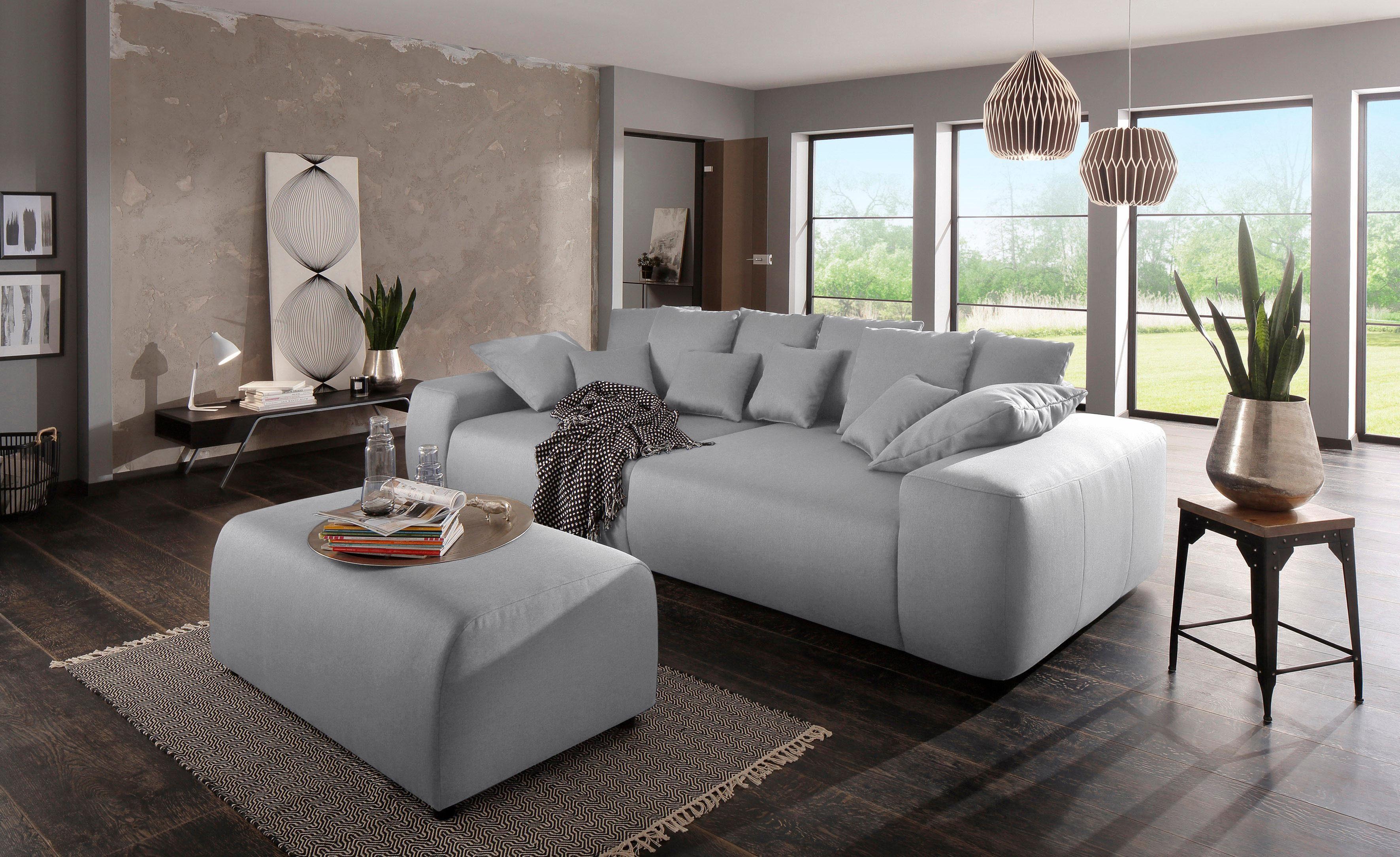 Home affaire Big Sofa »Sundance«, mit vielen Kissen, Breite 302 cm, Boxspring Federung online kaufen | OTTO