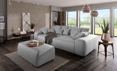 Home Affaire Big Sofa »Sundance« Mit Vielen Kissen, Breite 302 Cm,