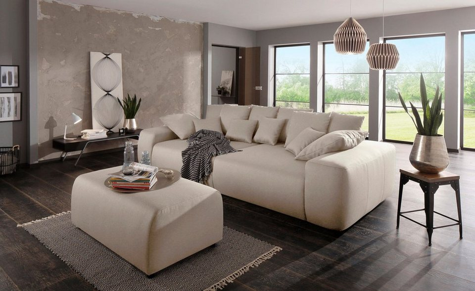 home affaire big sofa sundance mit vielen kissen breite. Black Bedroom Furniture Sets. Home Design Ideas