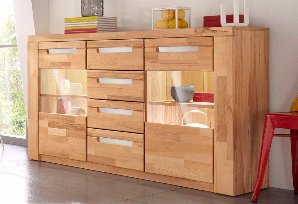 sideboard kolding breite 140 cm mit 2 glast ren otto. Black Bedroom Furniture Sets. Home Design Ideas