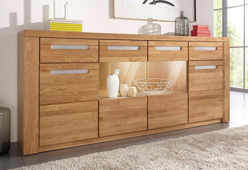 sideboard kolding breite 200 cm mit 2 glast ren und 2 holzt ren online kaufen otto. Black Bedroom Furniture Sets. Home Design Ideas