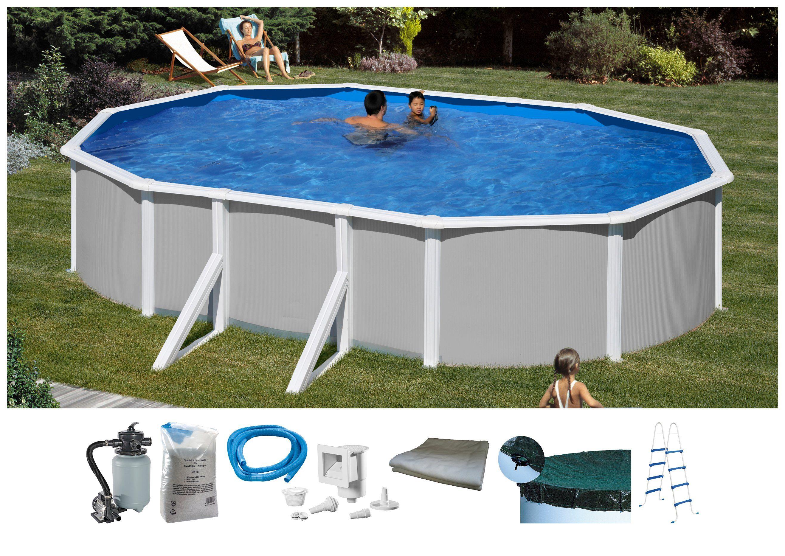 MYPOOL Set: Ovalpool , 7-tlg., BxLxH: 300x500x120 cm