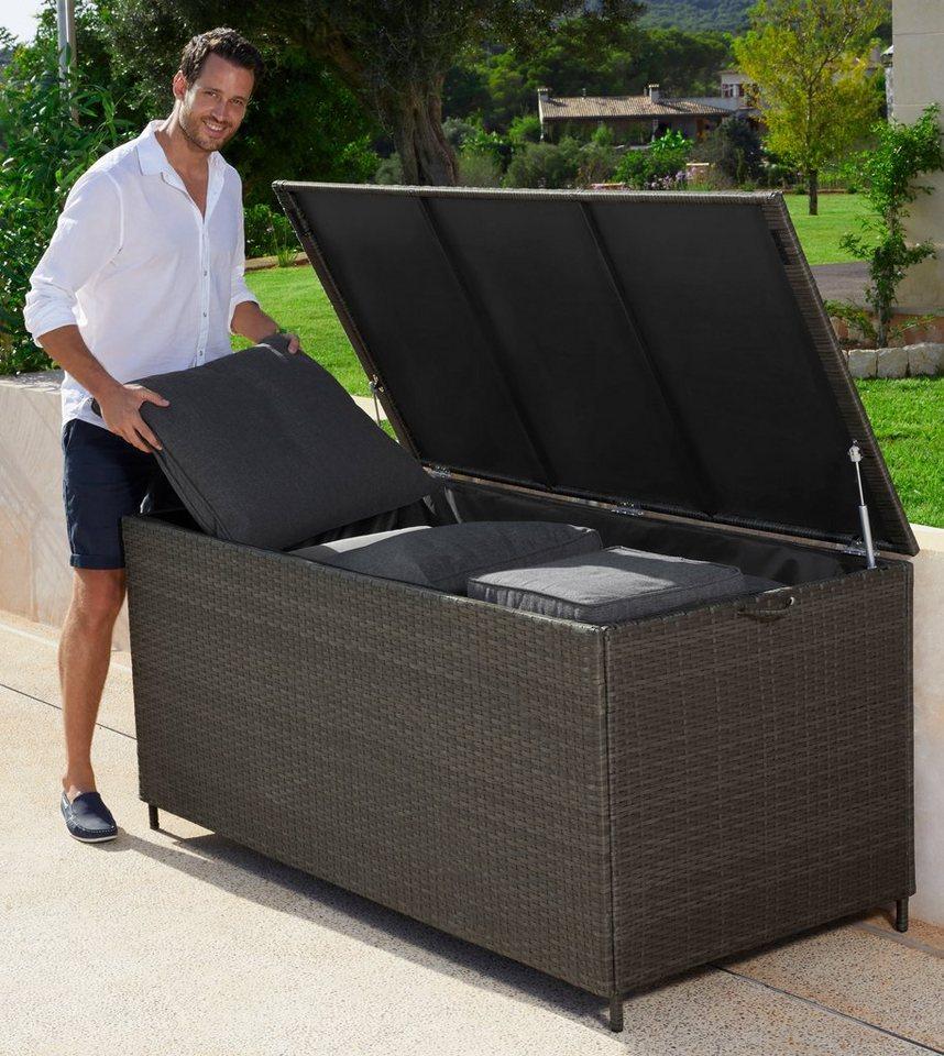 Auflagenboxen  Auflagenbox »Santorini«, 165x76 cm, Polyrattan, braun online kaufen ...