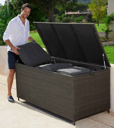 wetterfeste auflagenbox auflagenbox kissenbox holz kissentruhe garten auflagenbox with. Black Bedroom Furniture Sets. Home Design Ideas