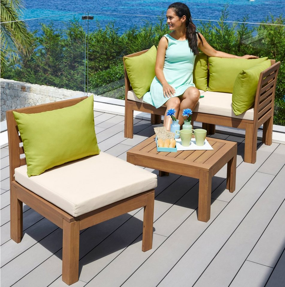 loungeset sevilla 12 tlg sofa tisch eukalyptus. Black Bedroom Furniture Sets. Home Design Ideas