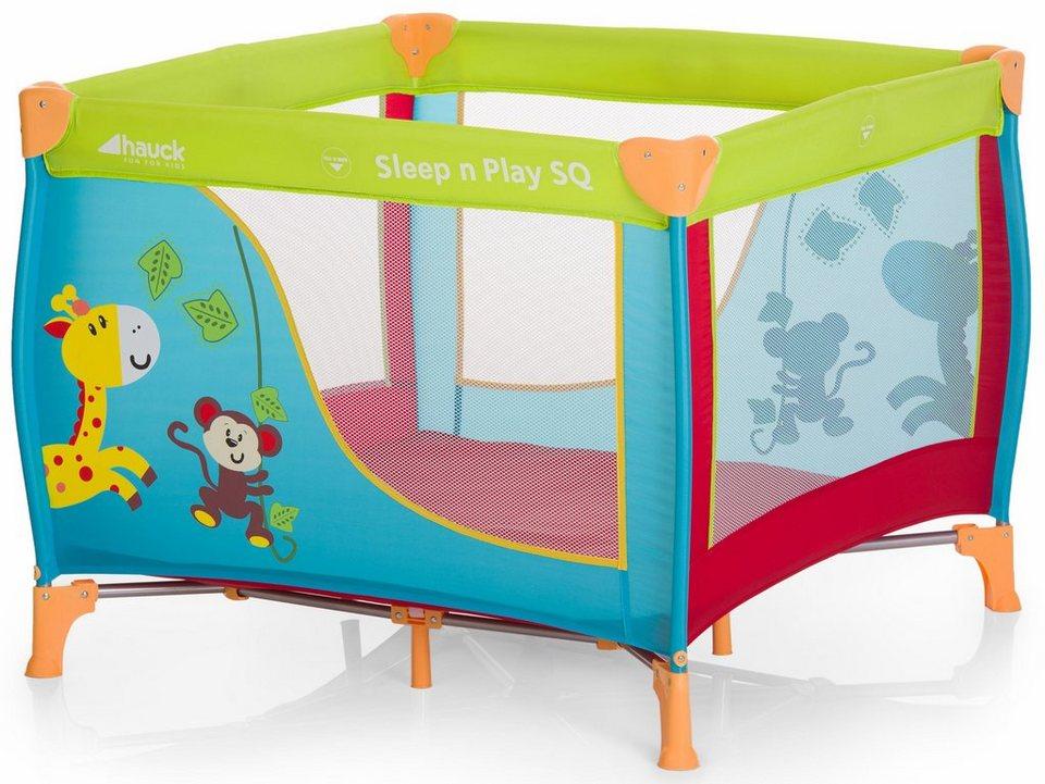 Hauck Laufstall »Sleep\'n Play SQ Jungle Fun«, mit Transporttasche ...