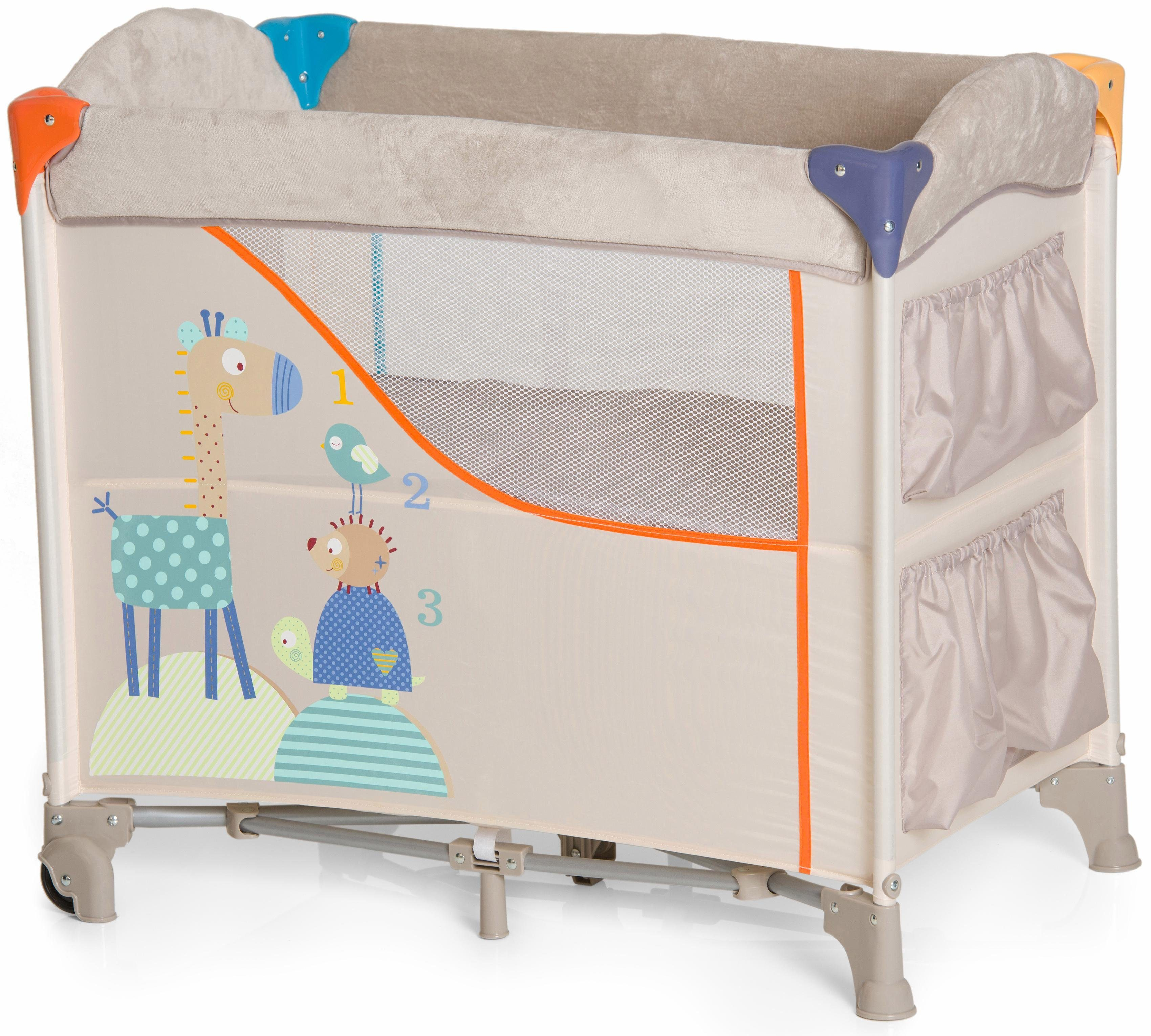hauck FUN FOR KIDS Beistellbett mit Tragetasche, »Sleep'n Care Animals«
