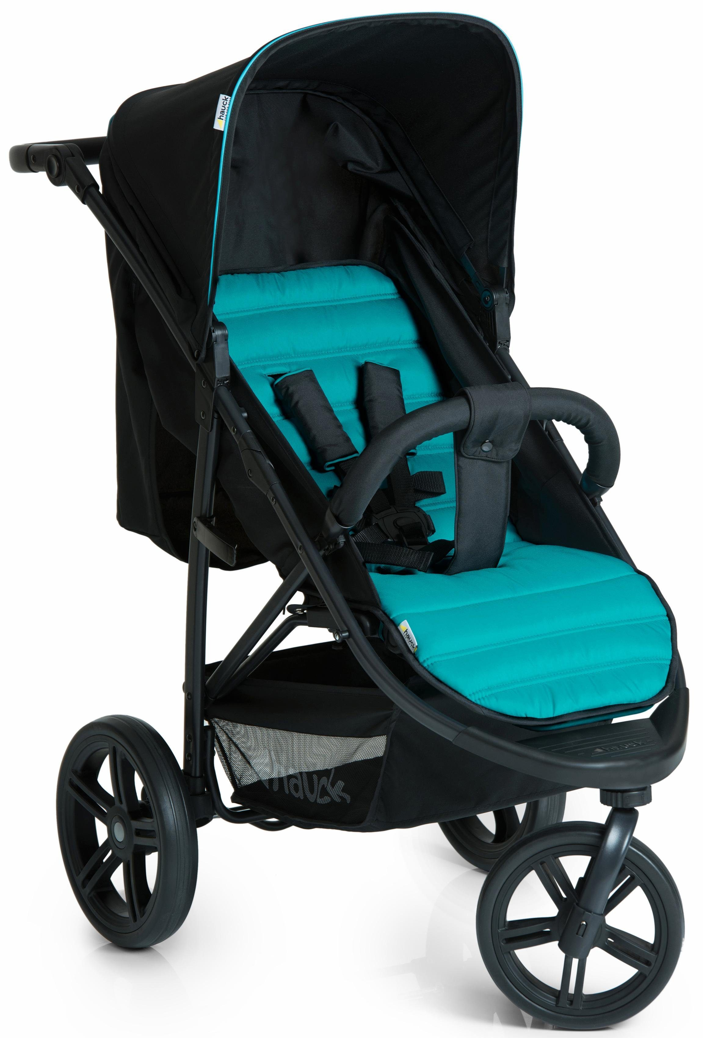 hauck FUN FOR KIDS Dreirad Kinderwagen, »Rapid 3 Caviar/Türkis«