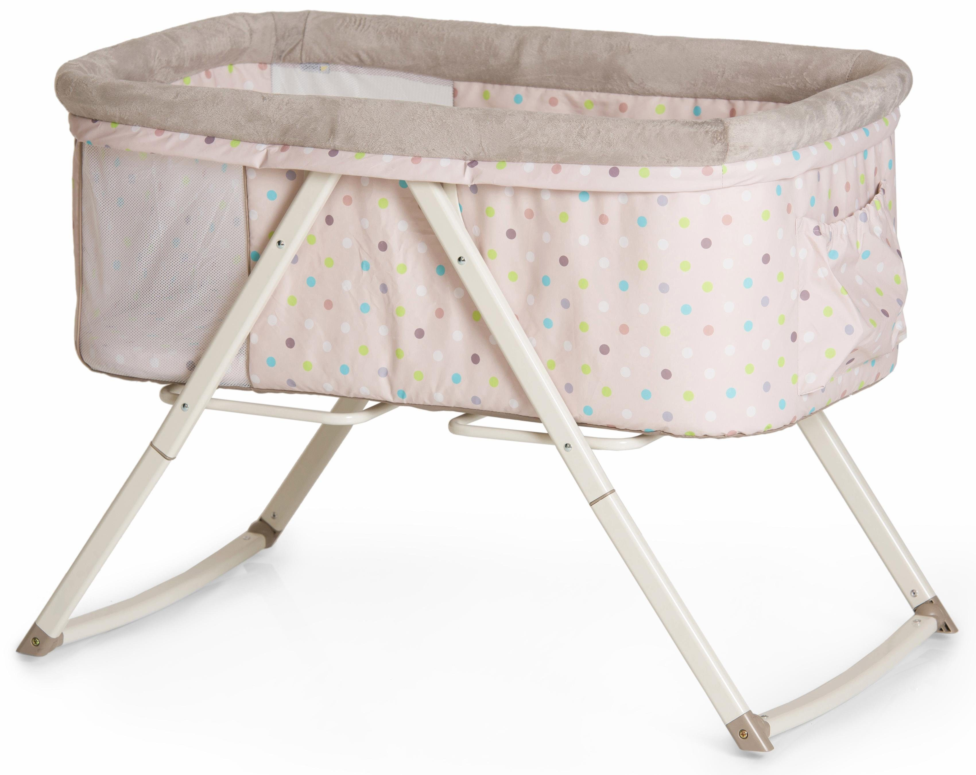 Hauck fun for kids beistellbett dreamer multi dots sand« online