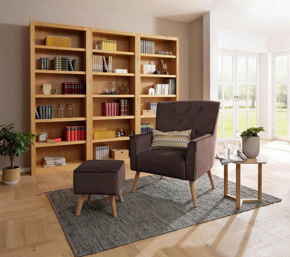 home affaire sessel michigan mit hocker mit und ohne. Black Bedroom Furniture Sets. Home Design Ideas