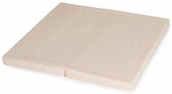 Klappmatratze »FUN FOR KIDS, Sleeper SQ Uni Beige 90x90 cm«, Hauck, 5 cm hoch, inklusive Transporttasche
