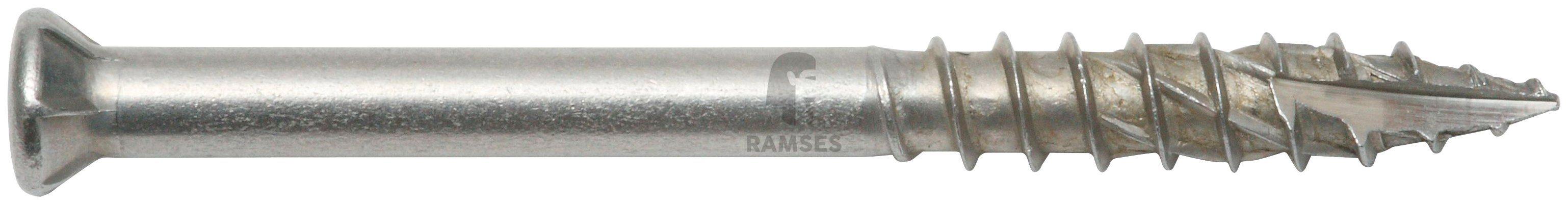 RAMSES Schrauben , Terrassenschraube 5,5 x 70 mm A4 ttap 25 mit Bit 100 Stk.