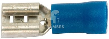 RAMSES Flachsteckhülsen , teilisoliert blau 1,5 - 2,5 mm² 7,7 x 0,8 100 Stück