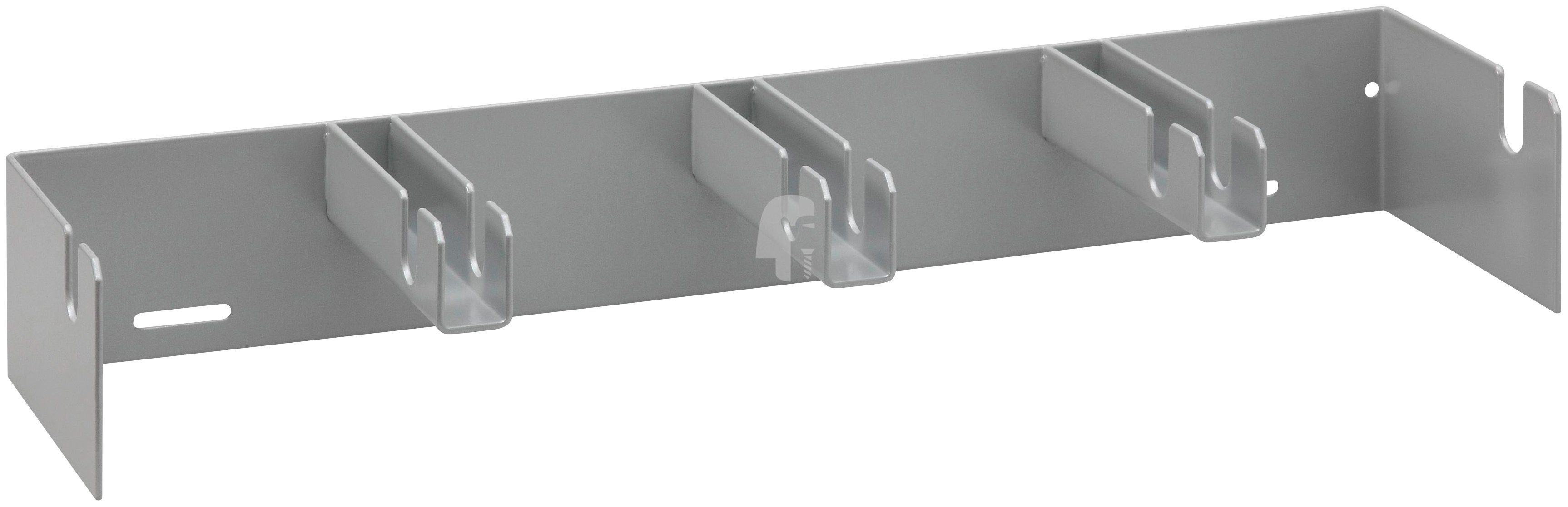 RAMSES Lochwand , Kabelwandhalter für 4 Spulen RAL 9006