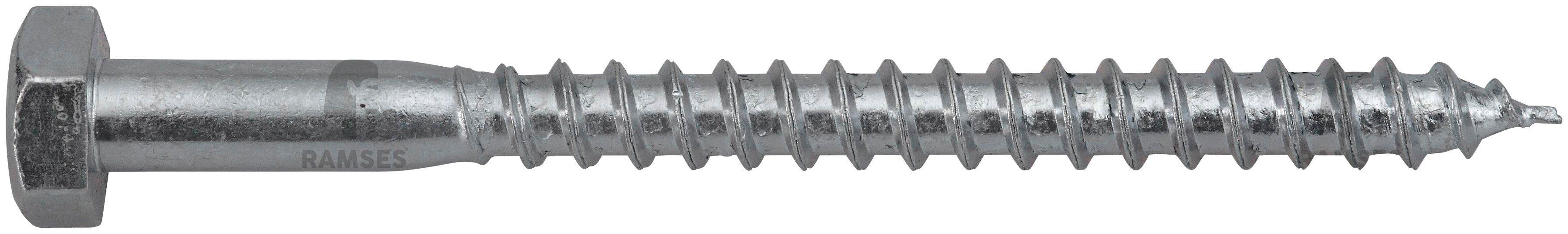 RAMSES Schrauben , Sechskant-Holzschraube 12 x 80 mm 50 Stk.