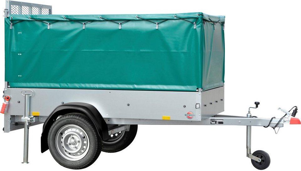 stema pkw anh nger mit plane green keeper st tzrad. Black Bedroom Furniture Sets. Home Design Ideas