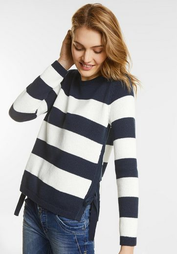 Street One Pullover With Stripes
