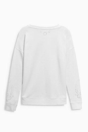 Next Sweatshirt mit Stickerei